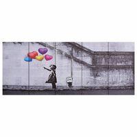 vidaXL Lerretsbilde barn med ballonger flerfarget 150x60 cm