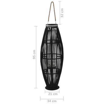 vidaXL Hengelanterne for stearinlys bambus svart 95 cm
