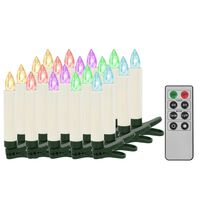 vidaXL Trådløse LED-julestearinlys med fjernkontroll 20 stk RGB