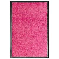 vidaXL Dørmatte vaskbar rosa 40x60 cm