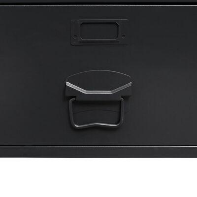 vidaXL Garderobe metall industriell stil 90x40x180 cm svart