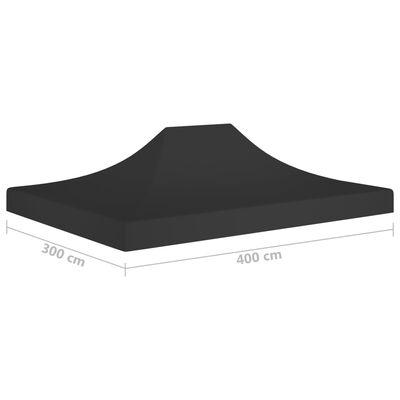 vidaXL Teltduk for festtelt 4x3 m svart 270 g/m²