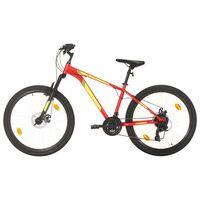 vidaXL Terrengsykkel 21 trinn 27,5-tommers hjul 50 cm rød