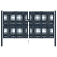 vidaXL Hageport antrasitt 306x225 cm stål